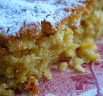 almond cornmeal cake