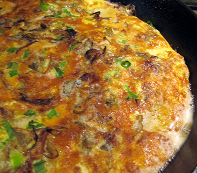 potato and artichoke frittata