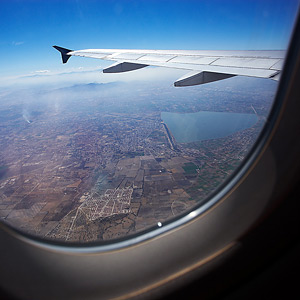 view of wing out of airplane