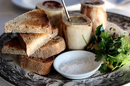 Roasted Bone Marrow Plate of Equisite at Eloise