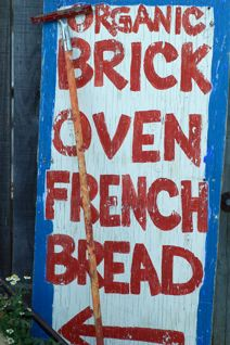 Sebastopol Wild Flour Bakery bread sign