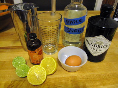 ingredients of gin fizz