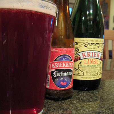 kriek with bottles
