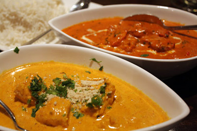 Chicken Korma and Tikka Masala