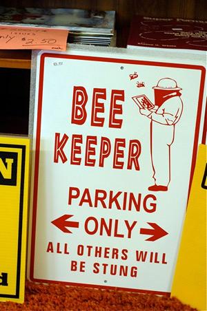 beekeeper sign