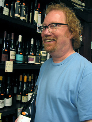 Chuck Hayward in wine shop