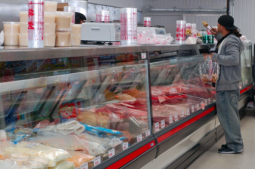 duc loi supermarket meat counter