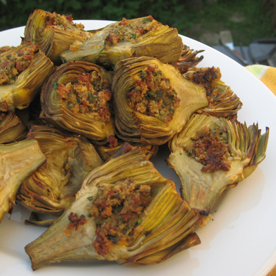 grilled stuffed artichokes