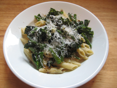 broccoli rabe with pasta and lentils