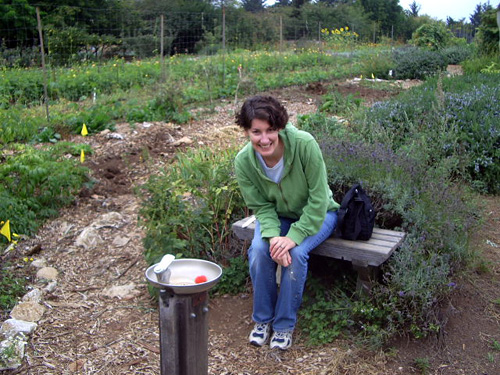 stephanie rosenbaum in ucsc garden