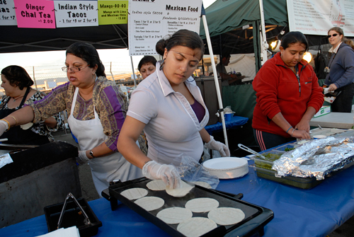 Indian style tacos at Fire Arts Festival in Oakland