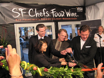 SF Chefs.Food.Wine. Ribbon Cutting