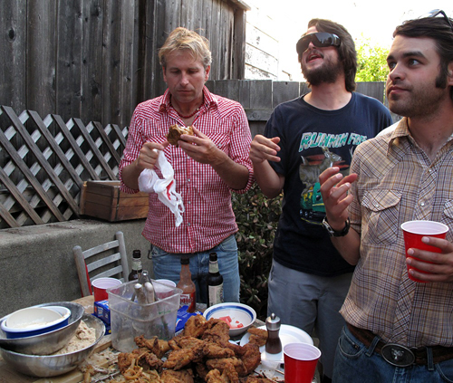 a house party in the Mission-  are these guys foodies?