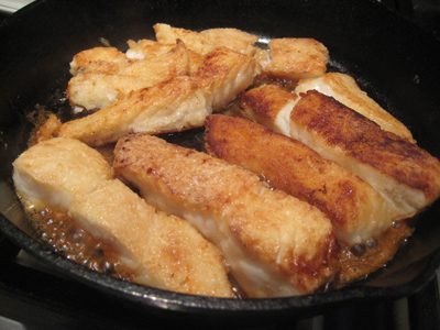 simmering your fish