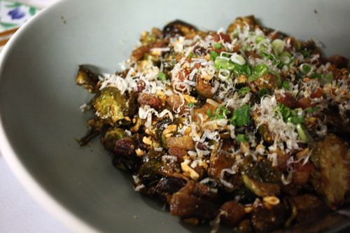 Dennis Lee Namu Brussels Sprouts with Bonito Flakes