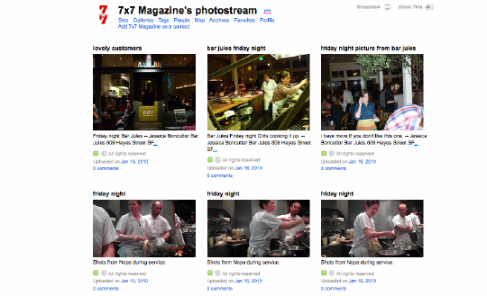 7x7 flickr stream