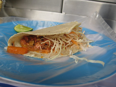 smoked marlin taco