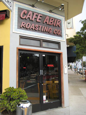 storefront of Cafe Abir