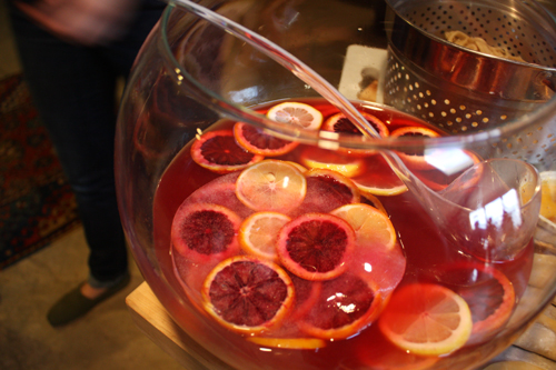 Bourbon and Blood Orange Punch