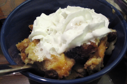 Bread Pudding with Malagasy Vanilla Rum Sauce