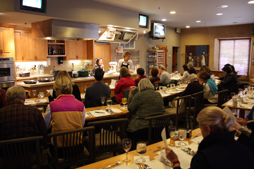 Cooking class at Ramekins with Joyce Goldstein