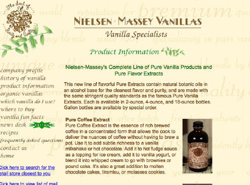 Nielson Massey extracts