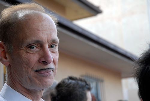 John Waters at the 2009 Folsom Street Fair in San Francisco. Photo copyright Wendy Goodfriend