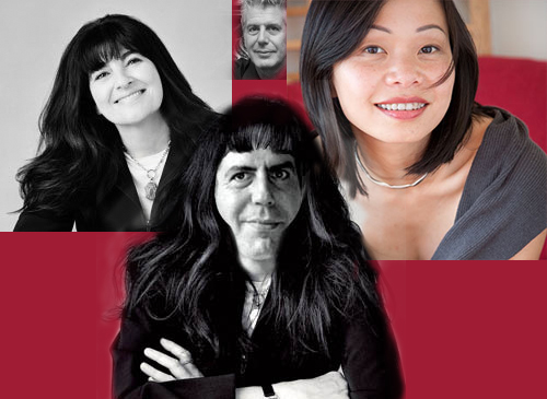Ruth Bourdain collage with Pim, Anthony Bourdain and Ruth Reichl