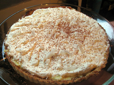 whole coconut cream tart