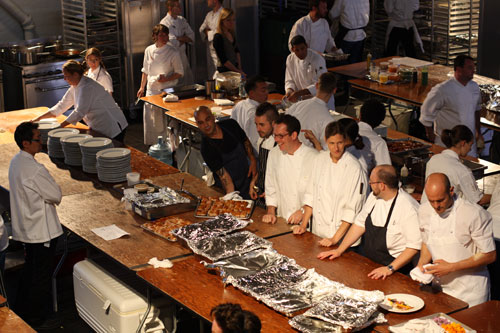 Mourad Lahlou and Chefs