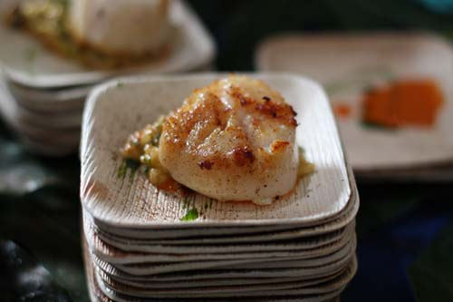 Ritz's Scallop over Uni Risotto