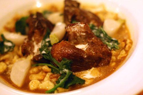 Braised Lamb Paprikash with Spaetzle