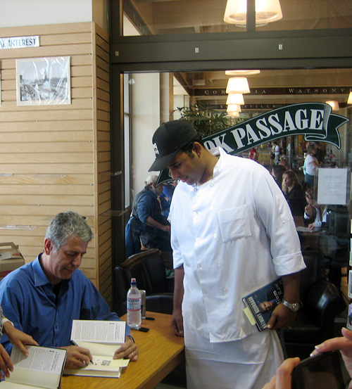 Anthony Bourdain booksigning at Book Passage