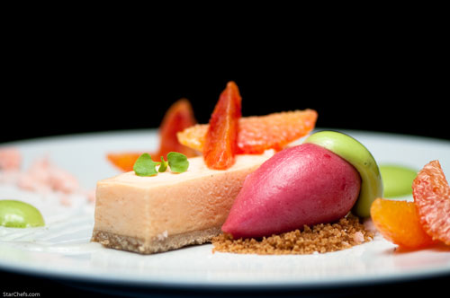 Catherine Schimenti's Apricot Mousse and Cherry Sorbet