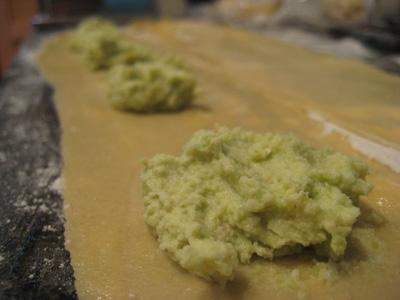 making raviolis