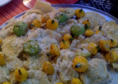 raviolis with summer squash