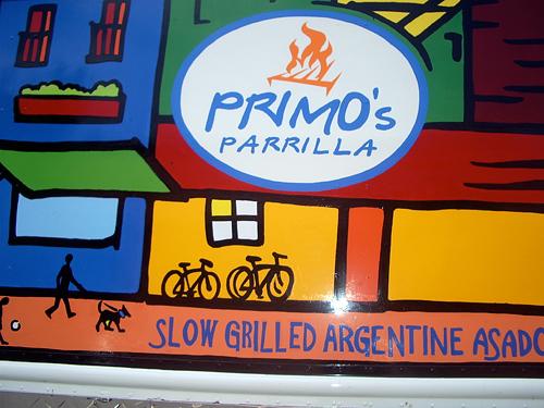 Primos Parrilla signage