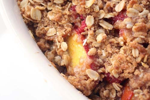 Nectarine and Raspberry Crisp | Bay Area Bites | KQED Food