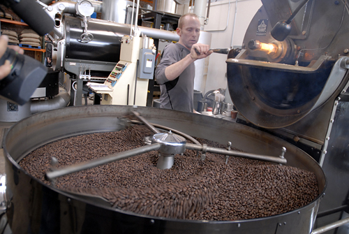Blue Bottle Coffee Roasting plant in Oakland