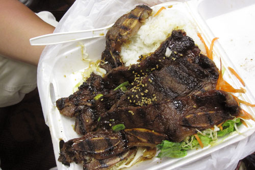 short ribs at Da Kitchen, Maui