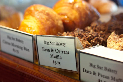 breakfast pastries at Big Sur Bakery