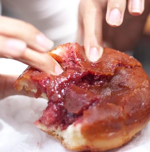 strawberry jelly donut