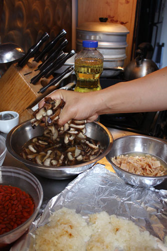 Ingredients for Naw Mai Fan