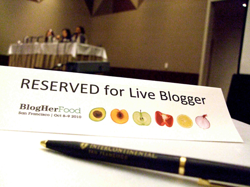 BlogHerFood 2010 - Reserved for Live Blogger