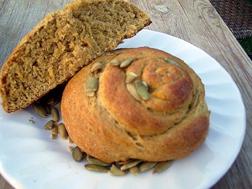 Yeasted Pumpkin Bread
