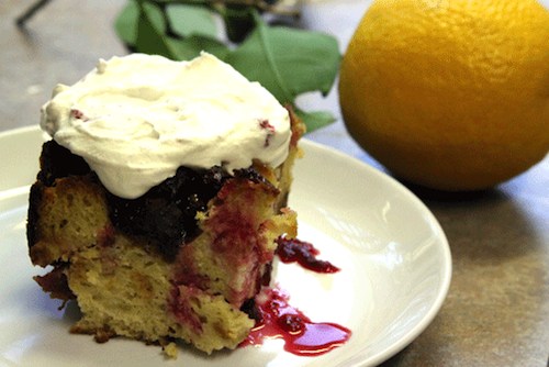 Cranberry-Cognac Bread Pudding