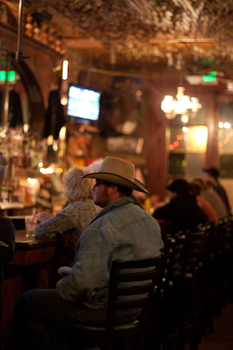 Cowboy at the Iron Door Saloon