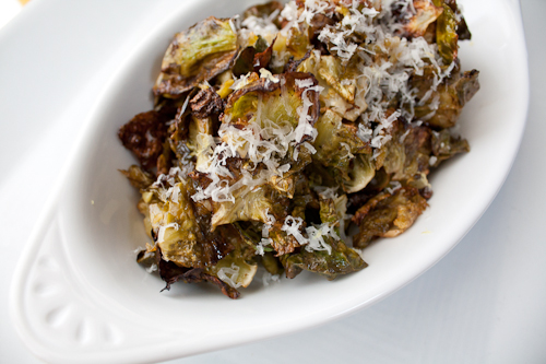 Roasted Brussels Sprouts Chips with Lemon and Parmigiano