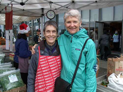 Kristie Knoll of Knoll Farms and Annie Somerville of Greens