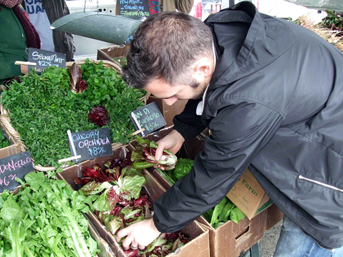 David Bazirgan of Fifth Floor selects chicories.